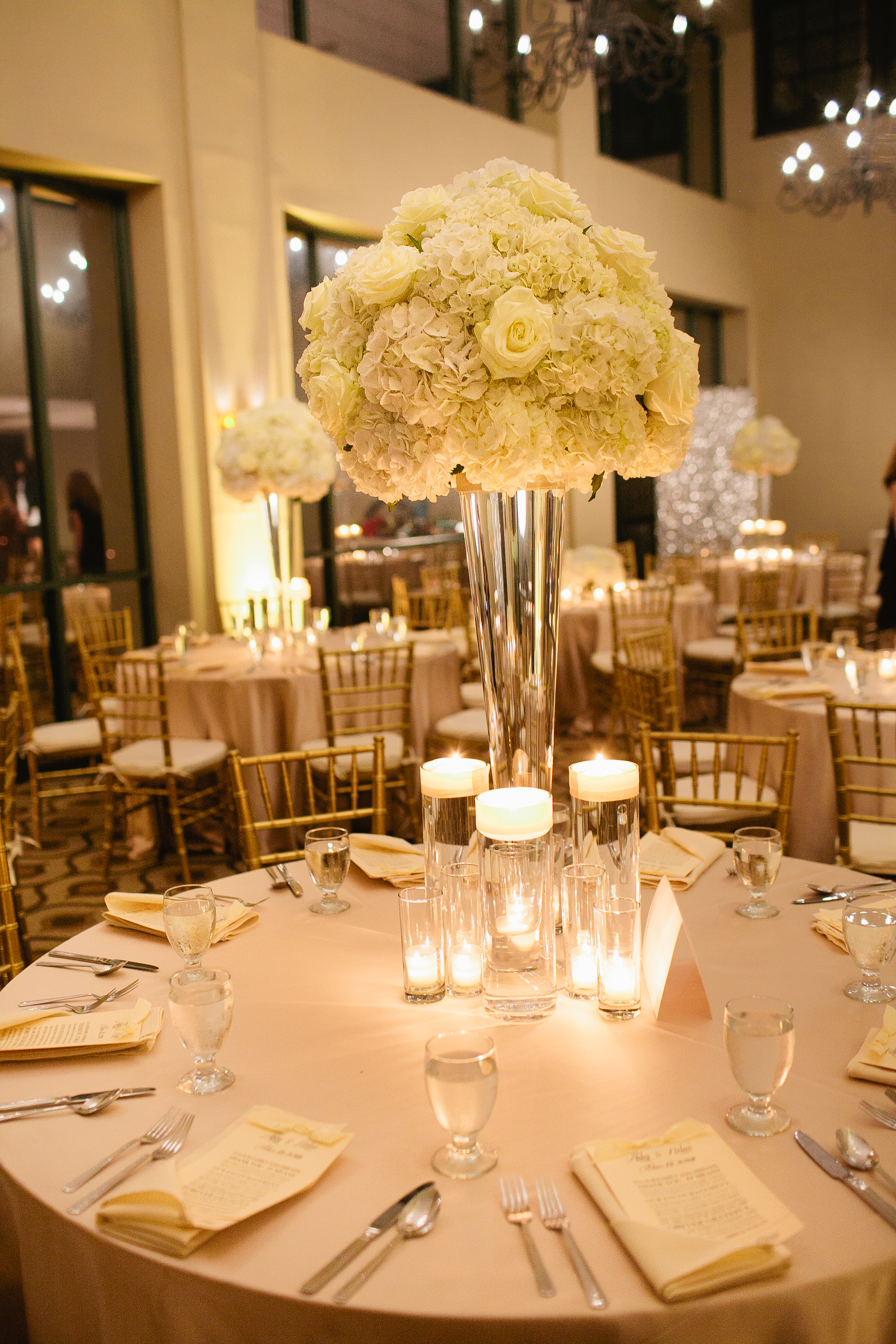 Tall All White Floral Centerpiece Bouquets Of Austin