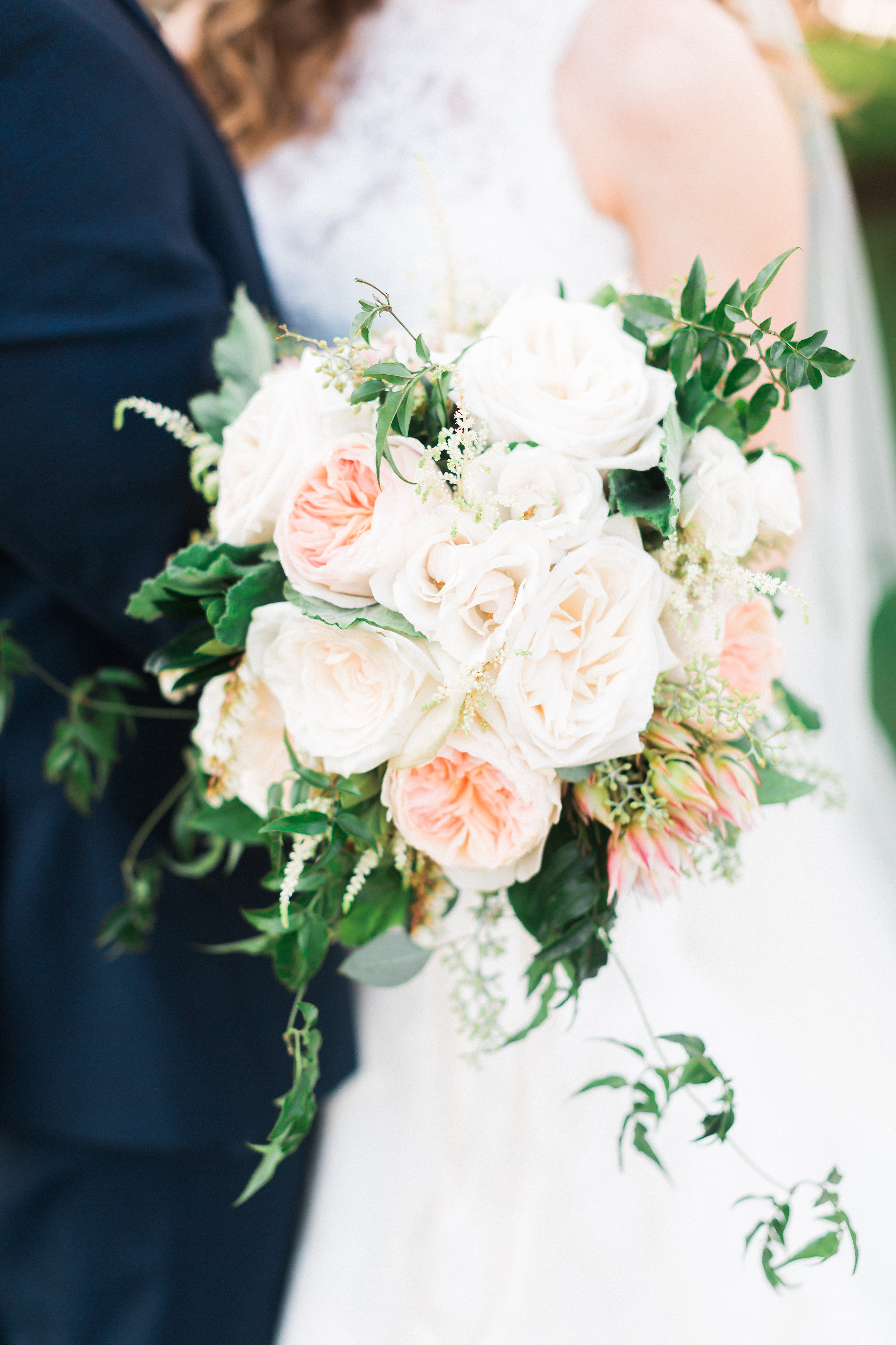 Garden rose bridal bouquet bouquets of austin - Garden rose bouquet ...