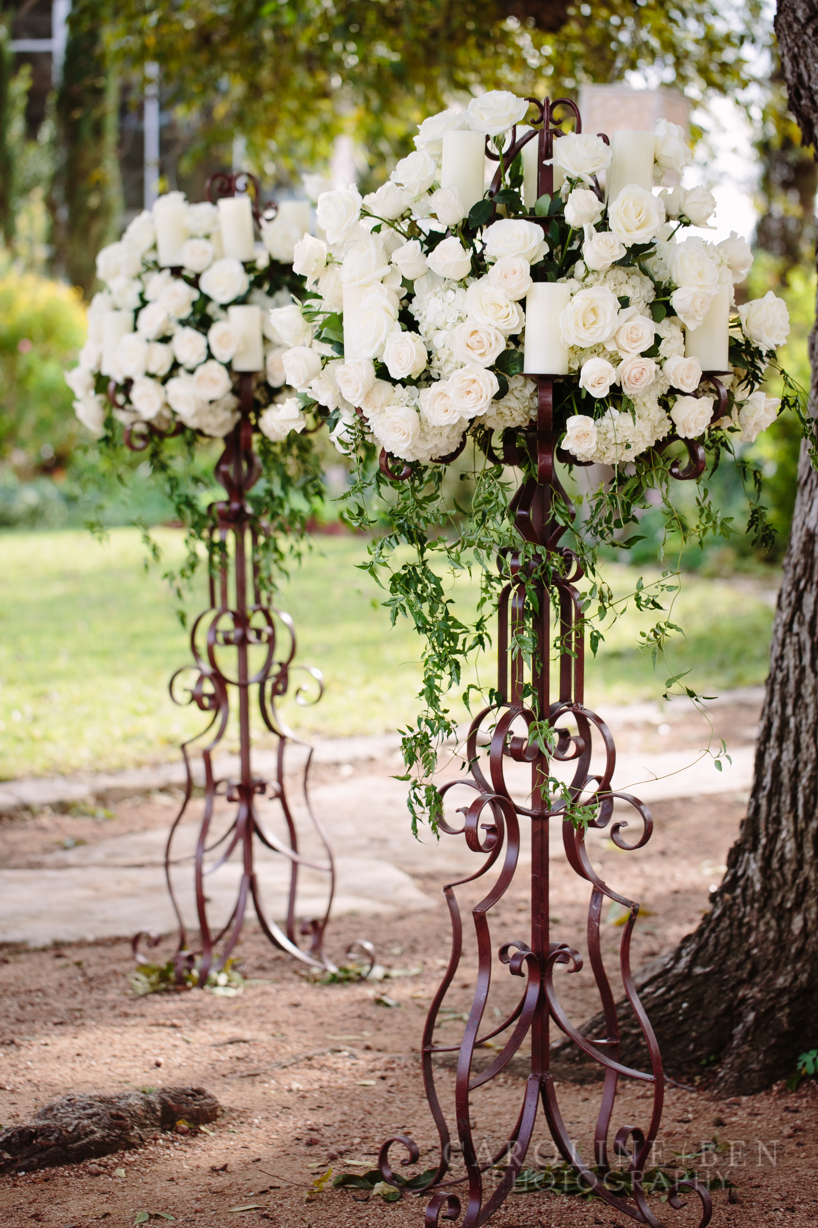 Grand florals for the ceremony.