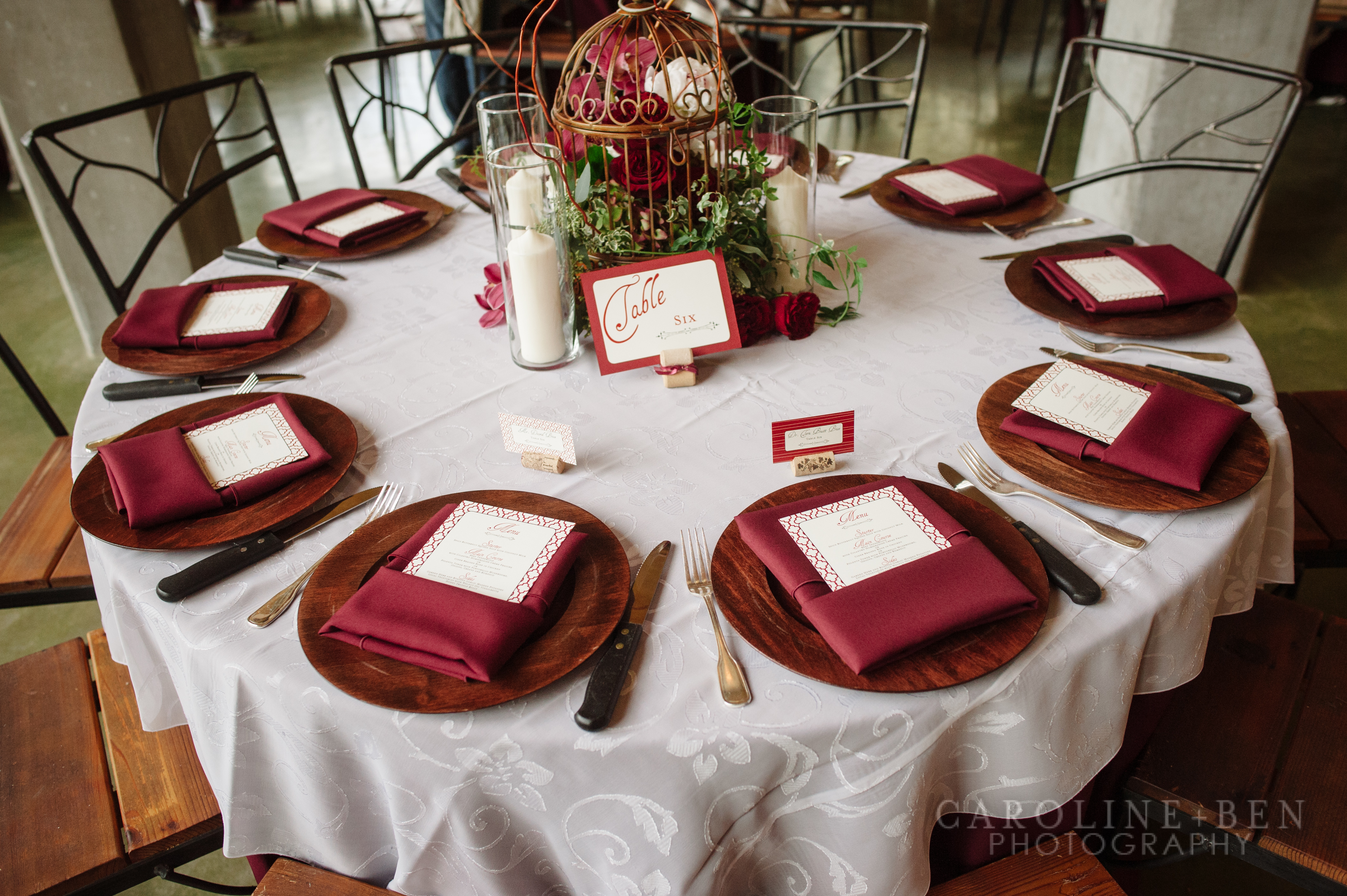 Gorgeous place settings.